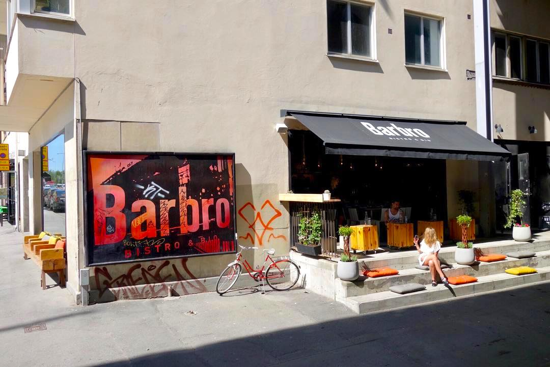 Outside photo of restaurant in Stockholm called Barbro.