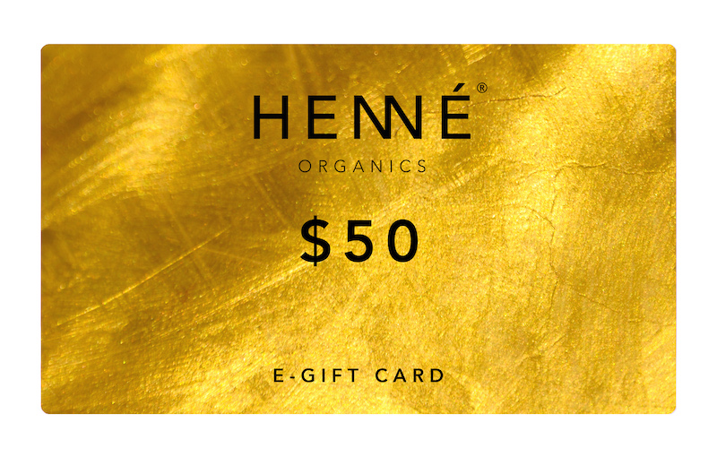 Gold gift card for