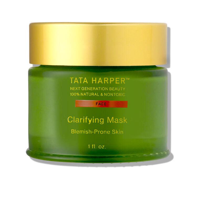 Face mask jar on white background