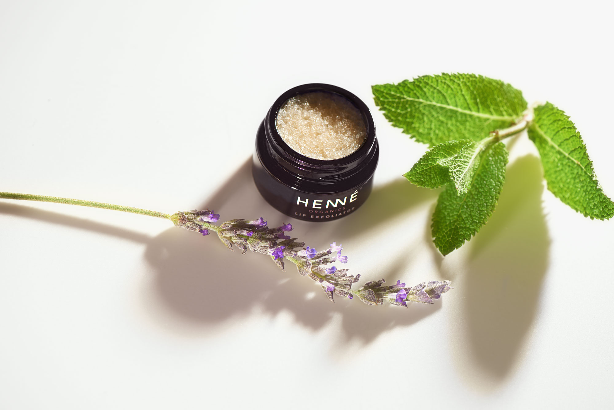 Lavender Mint lip exfoliator with lavender and mint