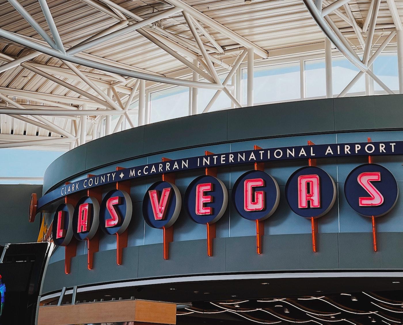 Vegas airport sign