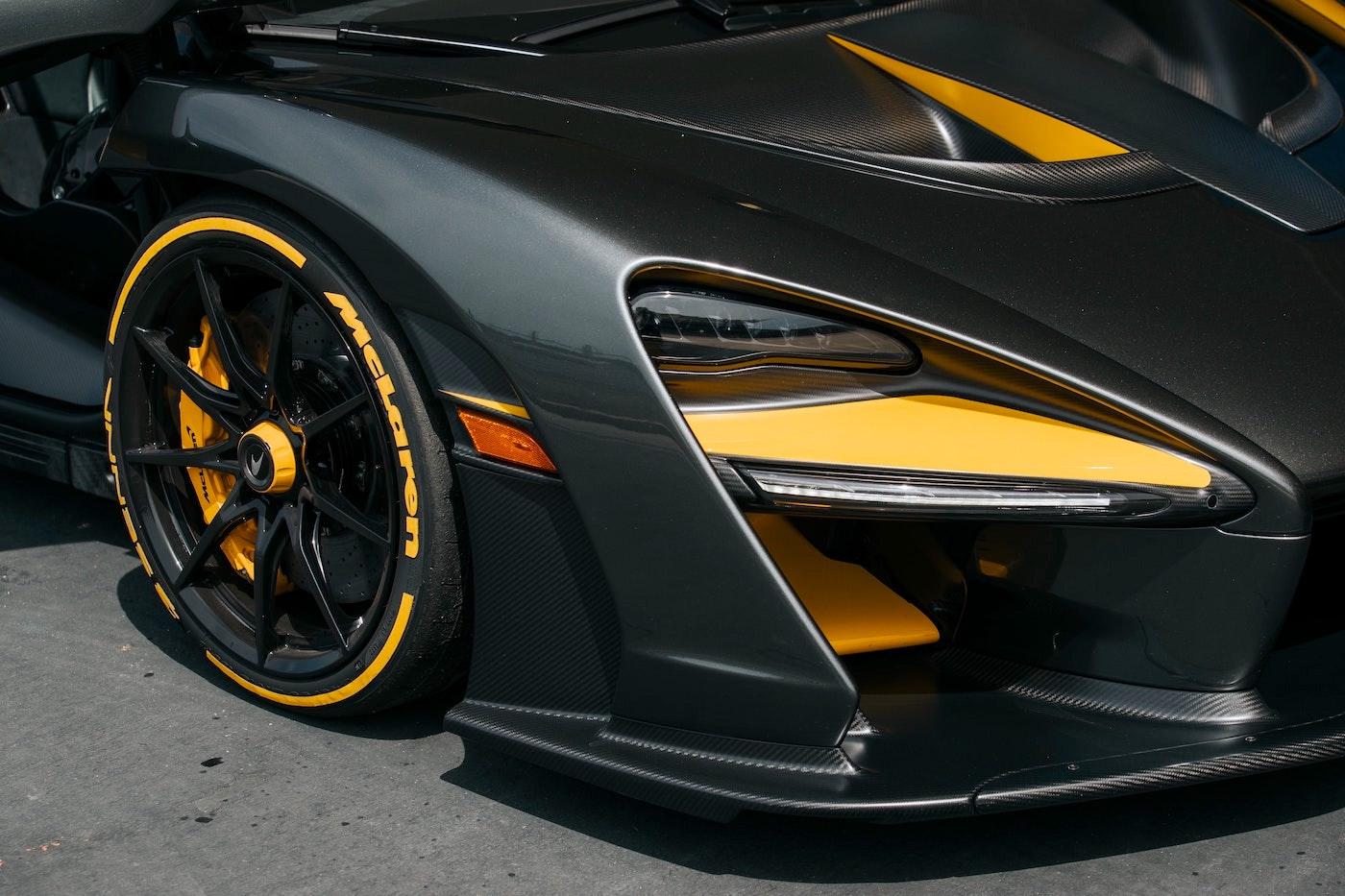 Close up of sports car